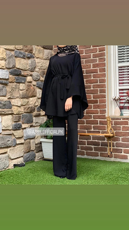 Dress with butterfly sleeves