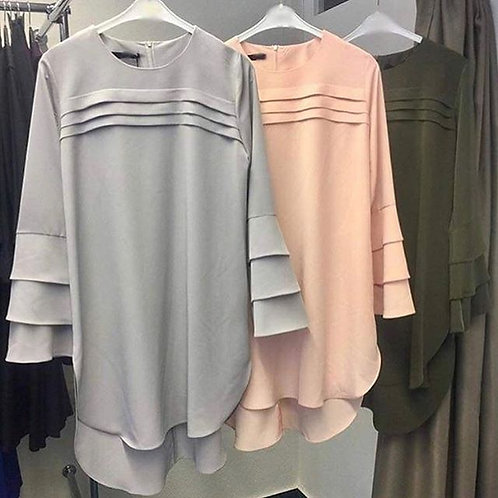 Short Shirt with Pleats