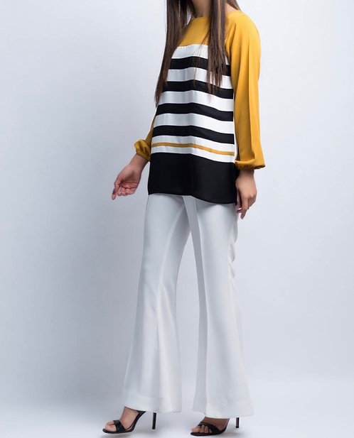 Striped Shirt with Bell Bottoms