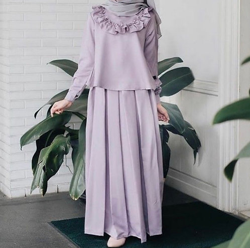 Purple Shirt with Skirt