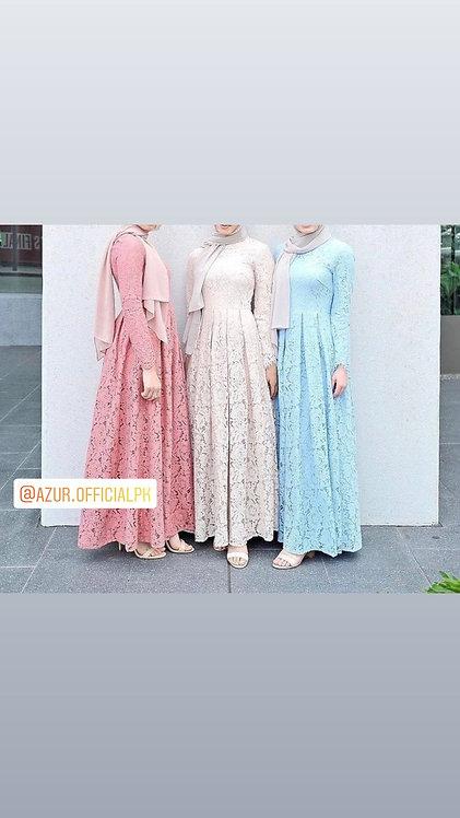 Net Maxi Dress