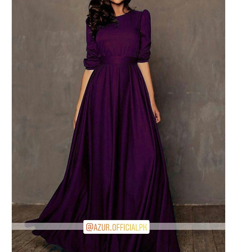 Purple silk maxi