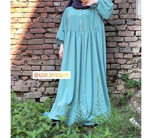 Free size blue abaya