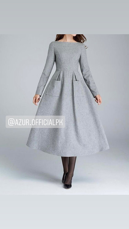 Grey woolen frock