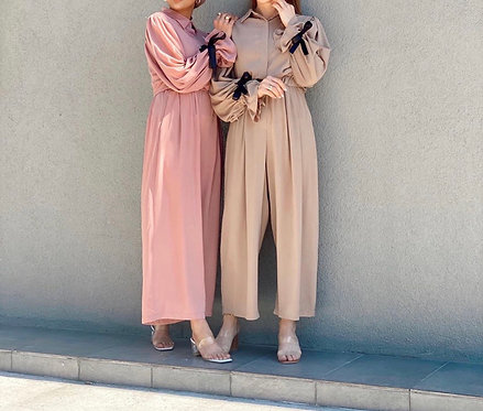 Jumpsuit with Bow Sleeves