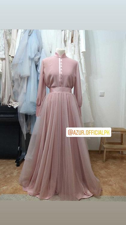 Pink shirt and skirt