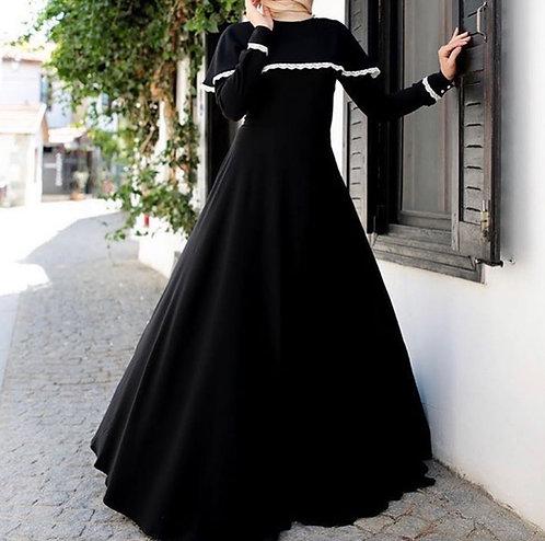 Black Abaya with Cape