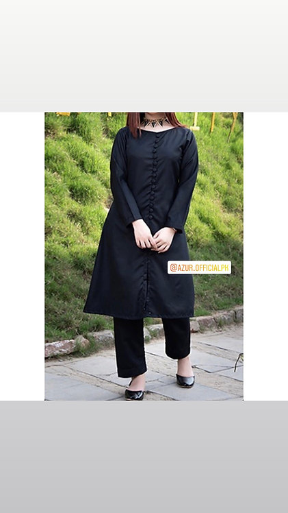 Front open style kurta with trousers