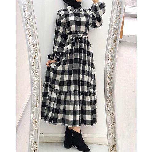 Flannel checks dress