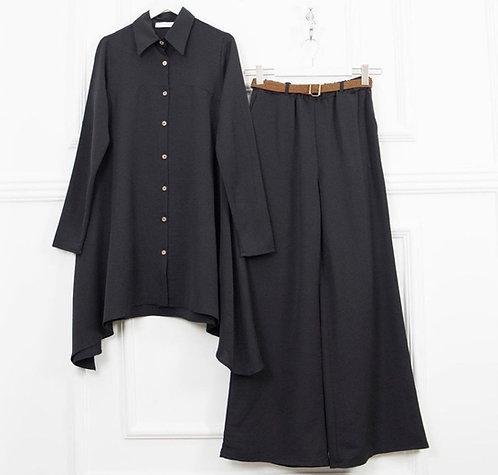 Side Drop shirt and loose pants