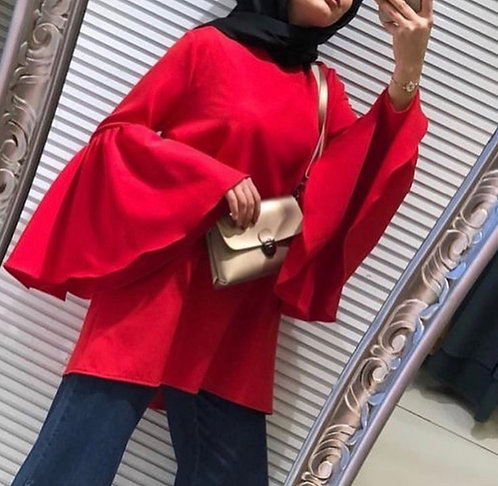 Short Shirt with Bell Sleeves