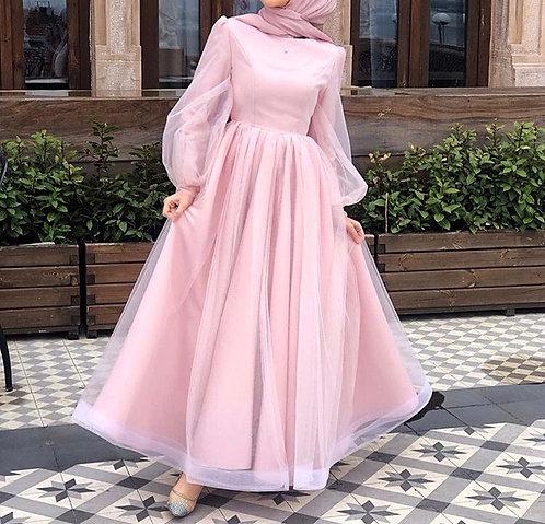 Pink net Dress
