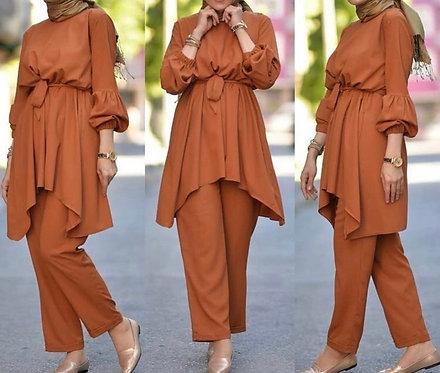 Brown Frock with Trousers