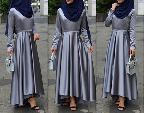 Silk Frock with Box Pleats