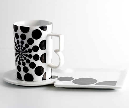 Designer Cup and Long Saucer