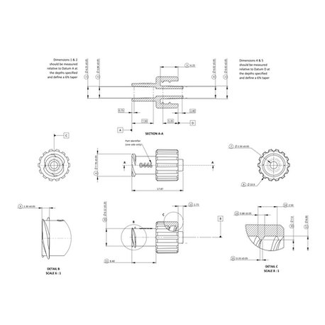 Creating detailed and accurate manufacturing specifications is a key element of getting any product to market. Even on something as simple as this injection moulded luer lock connector it is essential to fully define dimensions and tolerances in order to ensure the correct taper/thread geometry (BS EN ISO 80369) and ensure compatibility with existing medical equipment.