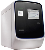 Transparent image of a Life Technologies 12K Flex Quantstudio qPCR cycler with a 384 well capacity, front view