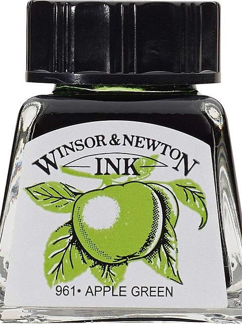 Winsor & Newton Drawing Ink Bottle Apple Green - 14ml & 30ml