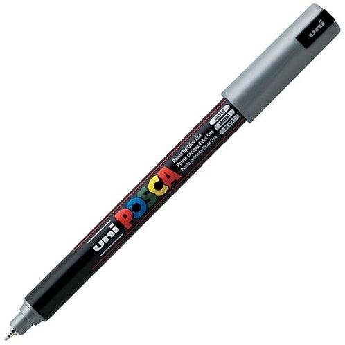 Uni Posca Paint Marker Pen Ultra Fine Tip 0.7 - Silver