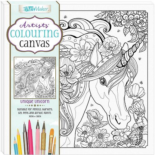Art Maker Artists' Colouring Canvas: Unique Unicorn