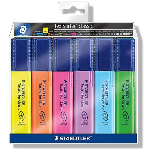 Staedtler Textsurfer Classic Highlighter Pen - Pack of 6