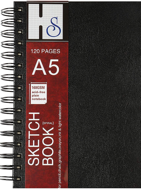HS Artist Sketch Books - A5 Spiral Bound