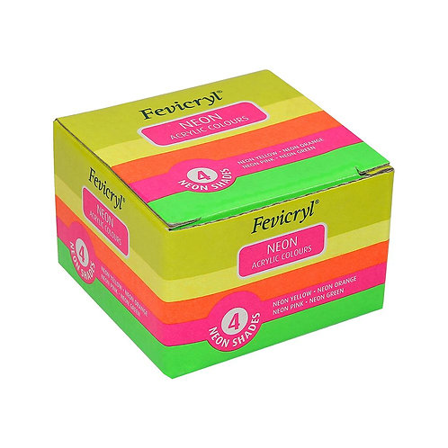 Fevicryl Neon Acrylic Colours -  Set of 4