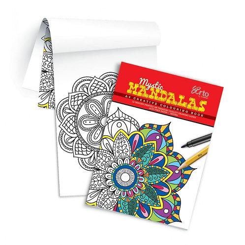 Arto Campap Creative Colouring Book A4 Mystic Mandalas 180gsm