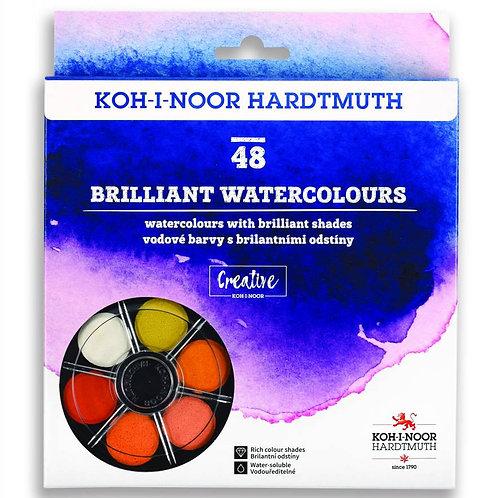 Kohinoor Hardtmuth Round Brilliant water colours 48
