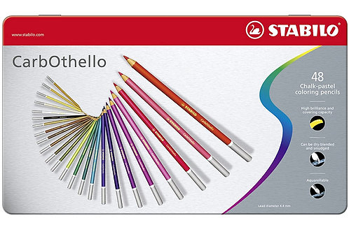Stabilo Carbothello Pastel Pencil - Metal Box of 48 colours