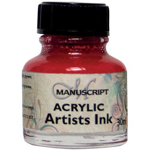 Manuscript MDP041 Acrylic Artists Ink - 30ml - Crimson