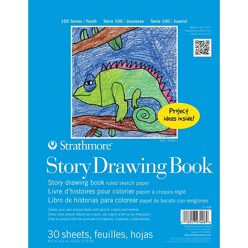 "Strathmore 100 Series Story Drawing Book 8.5""x11"" Spiral Bound - 30 Sheets"