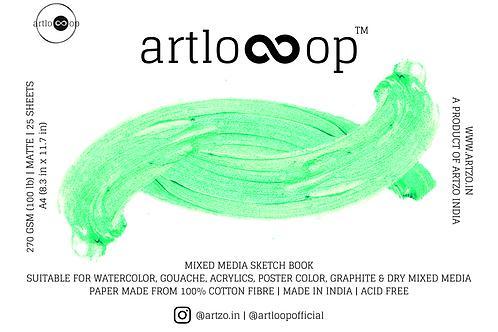 Artloop Mixed Media Sketch Book 270 gsm - A4 Matte