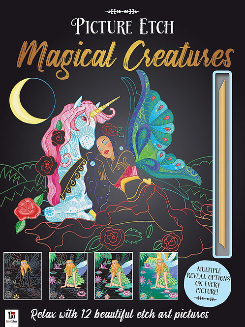 Hinkler Picture Etch - Magical Creatures