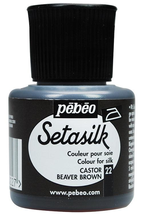 Pebeo Setasilk 45ml - Castor Beaver Brown