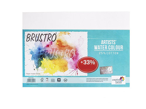 Brustro Artists Watercolour Paper, 25% Cotton, Cold Pressed, 300 GSM