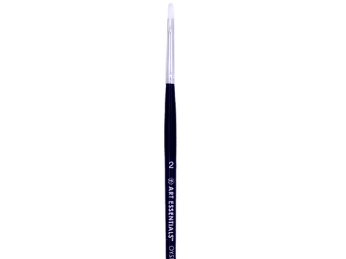 Art Essentials Oyster Synthetic 965 Series Flat Brushes Individual Size - 2