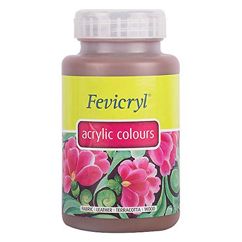 Fevicryl Acrylic Colour 500ml - Dark Brown