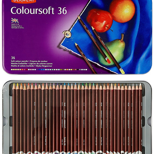 Derwent Coloursoft Tin - Set of 36
