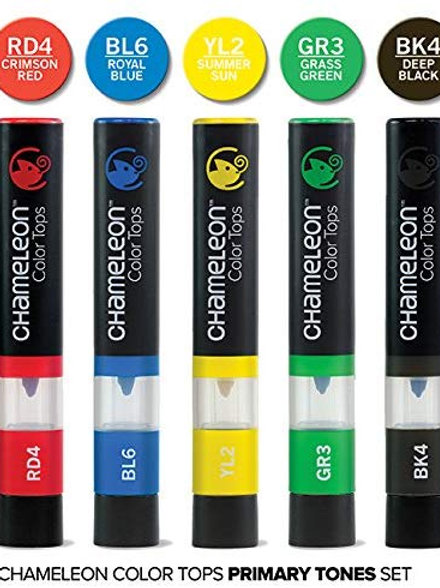 Chameleon 5 Colour Tops Primary Tones Set