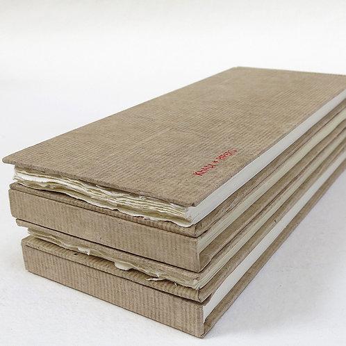 Khadi Paper HB5LWR Hardbound Sketchbook -  Long Rough
