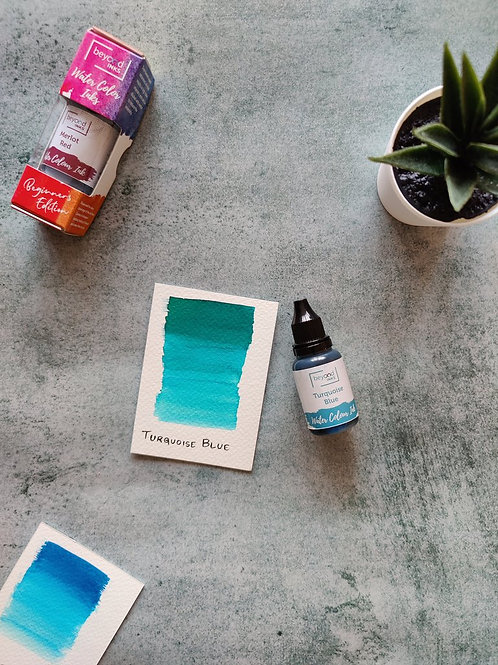 Beyond Inks Watercolor Ink 20ml - Turquoise Blue