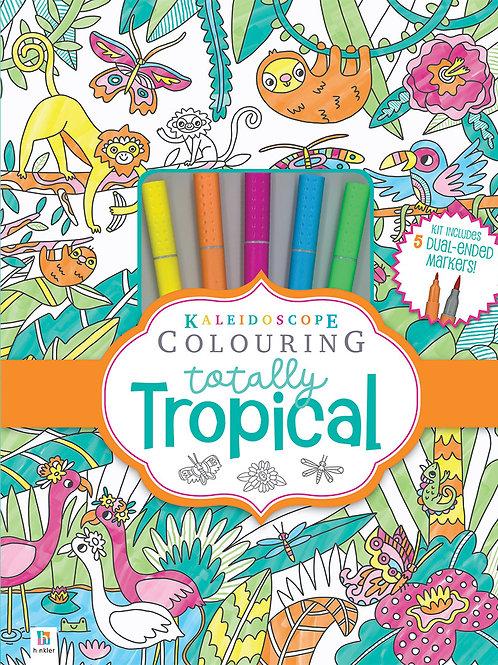 Hinkler Kaleidoscope Colouring Totally Tropical Marker Kit