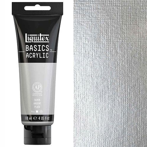 Liquitex Basics Acrylic Colour 118ml - Silver