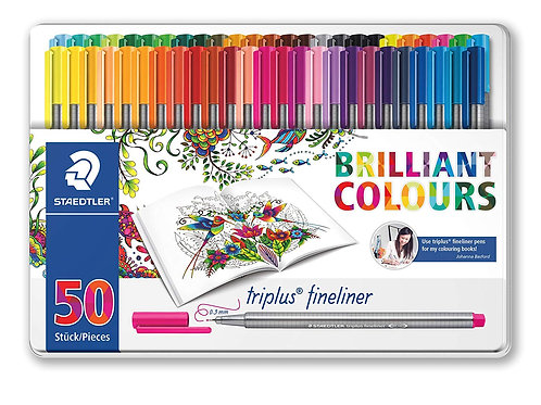 Staedtler Triplus Fineliner- Set of 50 Shades