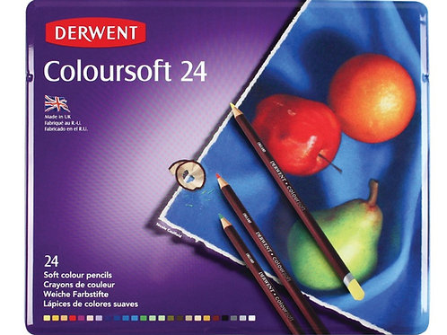 Derwent Coloursoft Tin - Set of 24