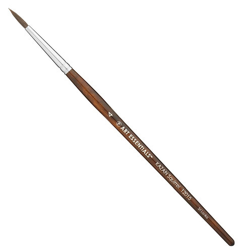 Art Essential Kazan Synthetic Squirrel Brushes Round - Size 4