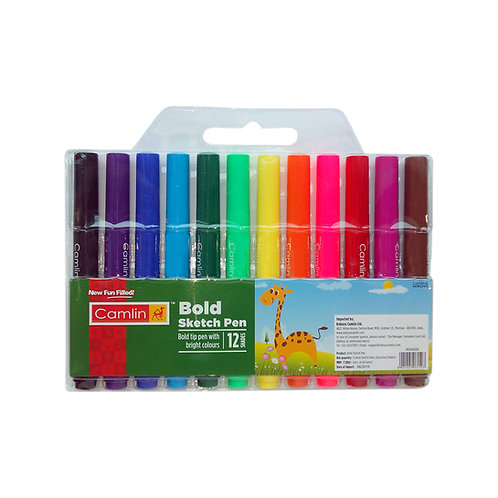 Camlin Kokuyo Bold Sketch Pen - Set of 12 Shades