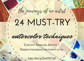 24 Must-Try Watercolor Techniques by Christy Sheeler