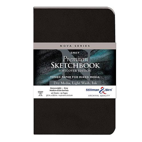Stillman & Birn Nova Softcover Sketchbook (5.5 x 8.5 inches) - Grey